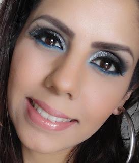 Tutorial de Maquiagem - Azul e Cinza