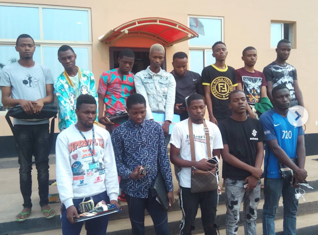 EFCC apprehends 13 Yahoo boys in Ilorin, Port Harcourt during sting operation [PHOTOS]