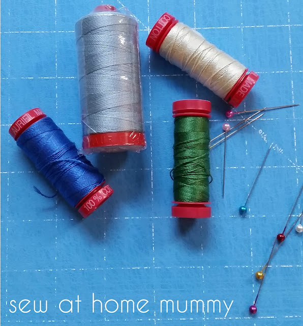 How to use Aurifil 12wt threads for decorative quilting stitches in your home sewing machine