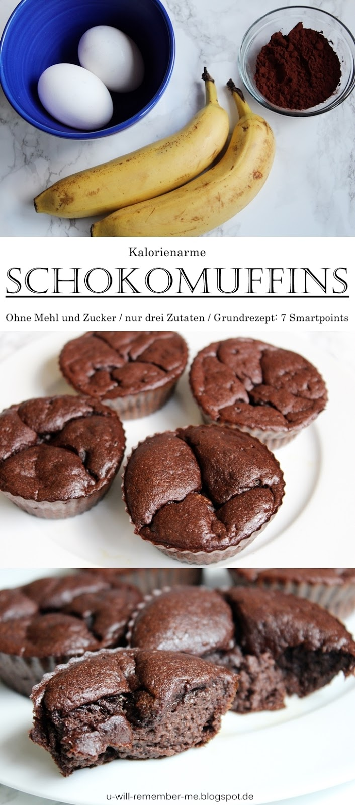 Rezept Kalorienarme Bananen Ei Schoko Muffins You Will Remember Me