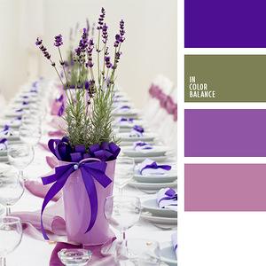 Посуда и сервировка - гармоничные палитры в 5 цветов