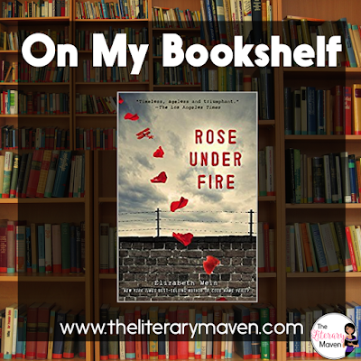 Rose Under Fire by Elizabeth Wein is set during WWII and features young women in non-traditional roles. As a female pilot, Rose can only transport planes, not engage in combat, but when she goes astray on a mission, she is forced into enemy territory and eventually taken to a concentration camp. Read on for more of my review and ideas for classroom application.
