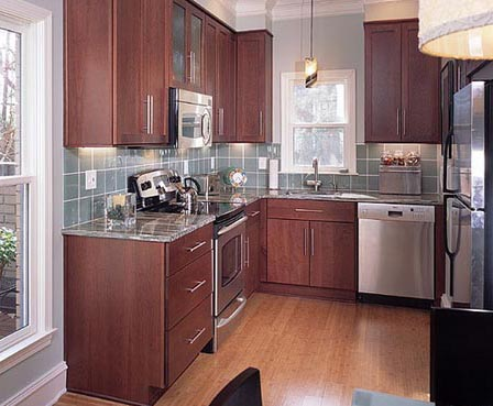 Desain Dapur Kecil Untuk Rumah Minimalis Lemari Kayu