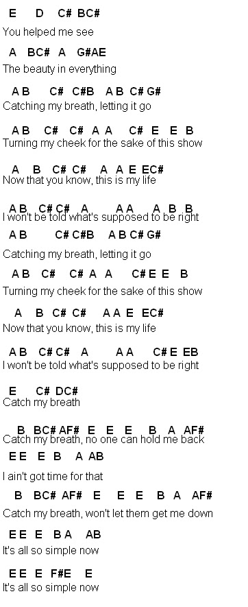 Flute Sheet Music: Catch My Breath