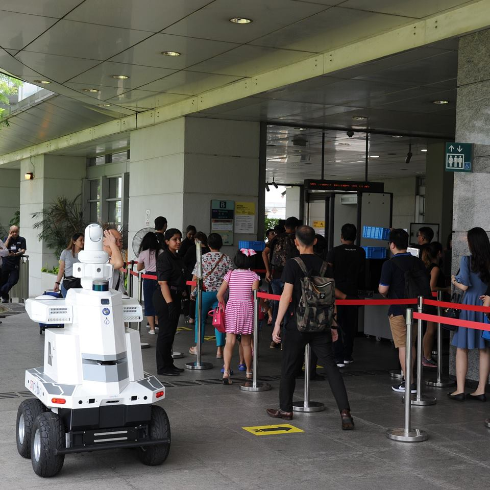 A robot was deployed to patrol Hougang MRT station on 05 December 2018.