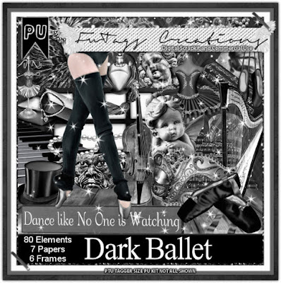 Dark Ballet, Scrap kit by Claire Slack aka FwTags