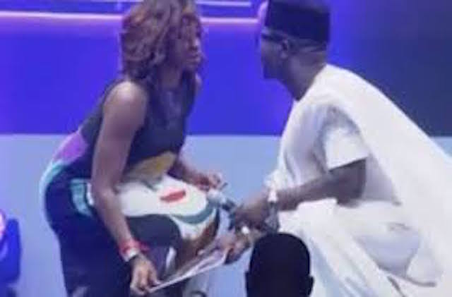 Unbelievable!! See How Seyi Law Kisses Kate Henshaw On Stage At AY Live 2016 [Video]