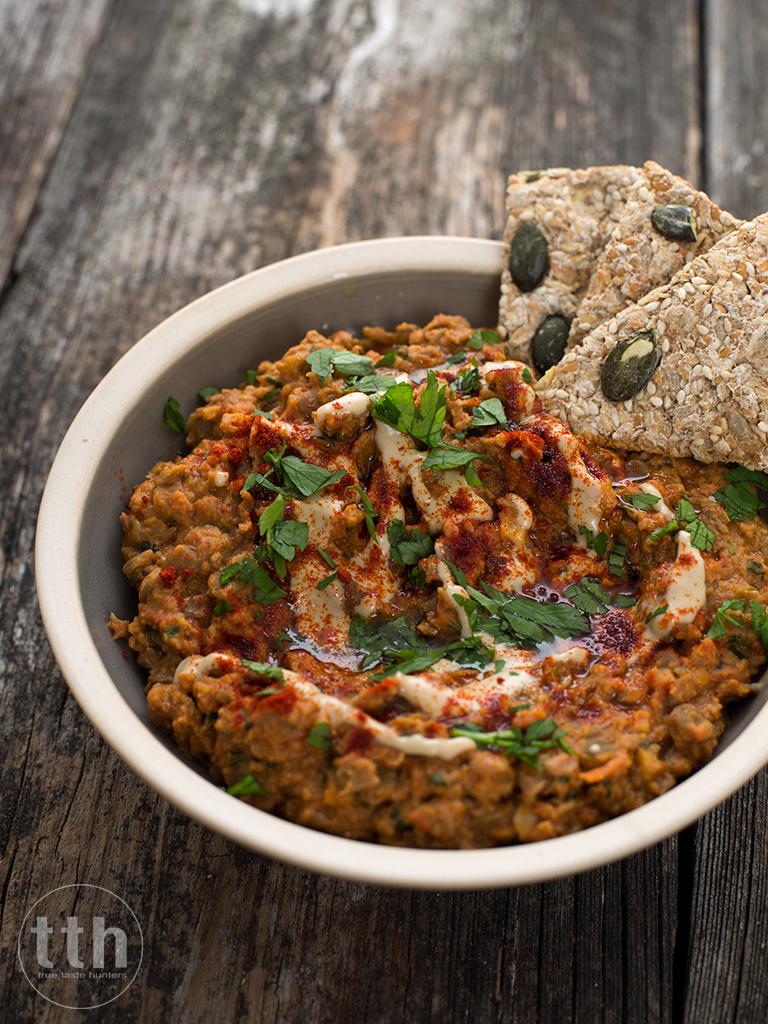Soczewica z tahini i kuminem - przepis (weganskie, bezglutenowe) danie