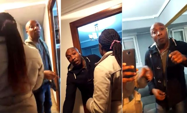 VIDEO: Nigerian Errand Boyfriend Finally Washed The Rice As Commanded By His Girlfriend In Europe