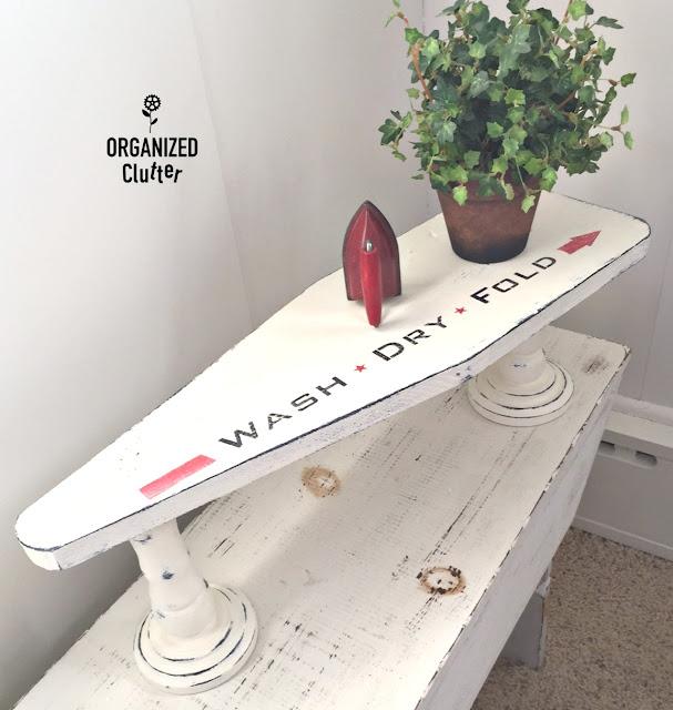 Trestle Style Shelf From Sleeve Ironing Board Top organizedclutter.net