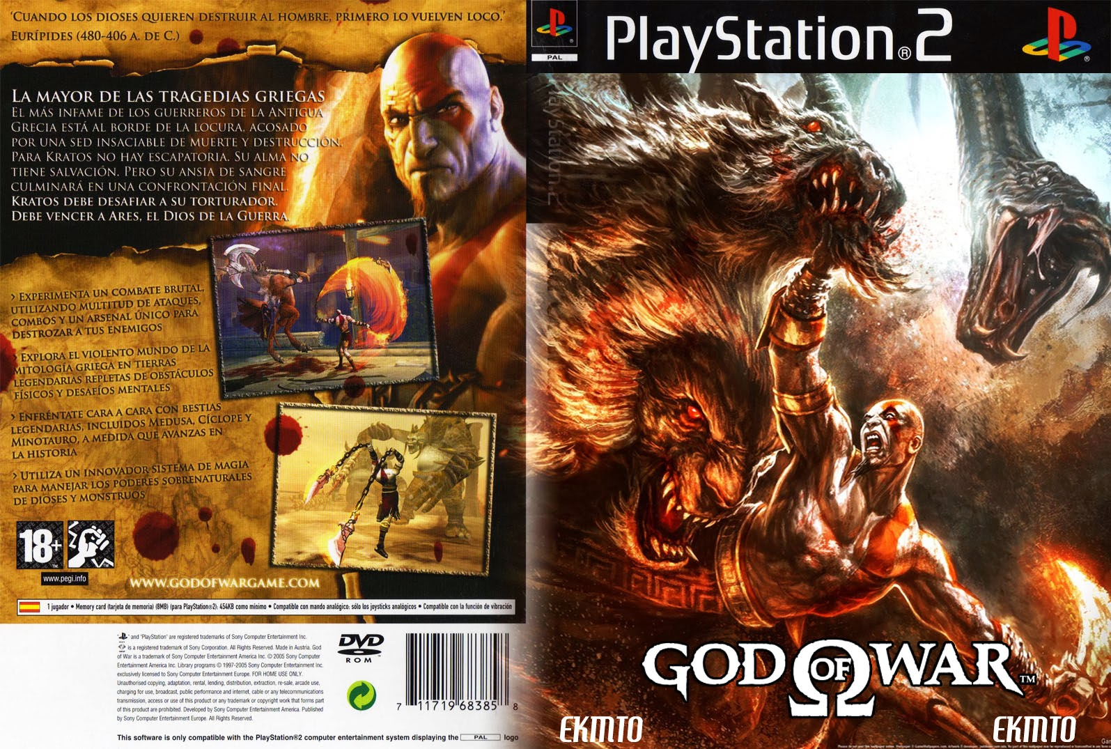 God Of War game ps2