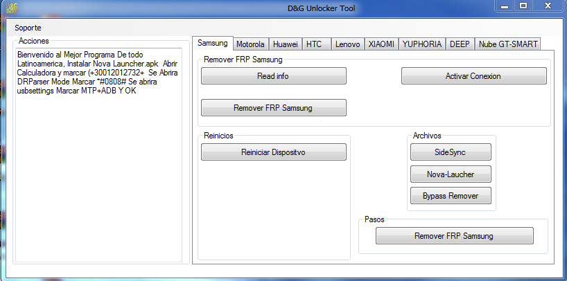 D&G Password Unlocker Tools – All Frp Bypass Lock Latest Free Download