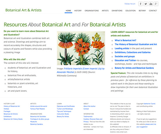 Botanical Art and Artists - a compendium website