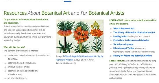 Making A Mark A New Website Botanical Art And Artists