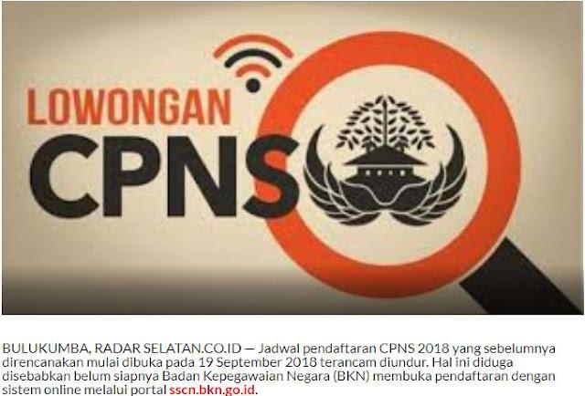 kemungknan registrasi dimulai tanggal  Syarat dan Formasi CPNS 2018 Sudah Dapat Diakses di sscn.bkn.go.id Mulai Tanggal 19-09-2018