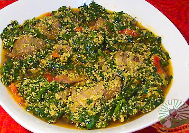 How to Cook Nigerian Egusi Soup with bitter leaf (Ofe Egusi/Obe Efo Elegusi)