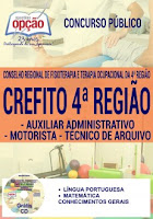 Apostila Crefito MG Auxiliar Administrativo - Conselho Regional de Fisioterapia de Minas Gerais.