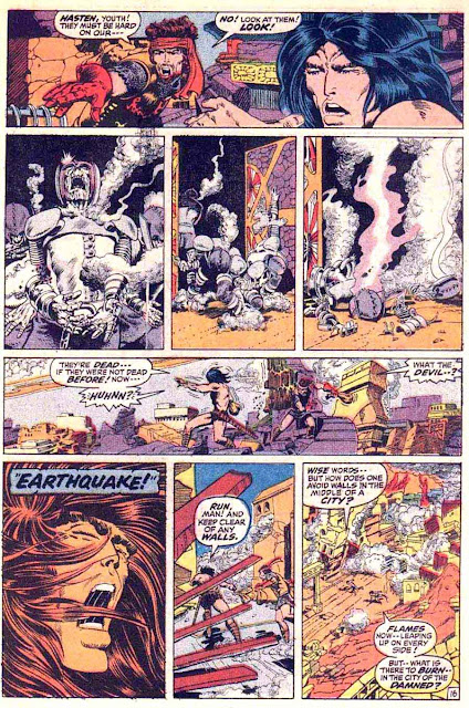 Conan the Barbarian v1 #8 marvel comic book page art by Barry Windsor Smith