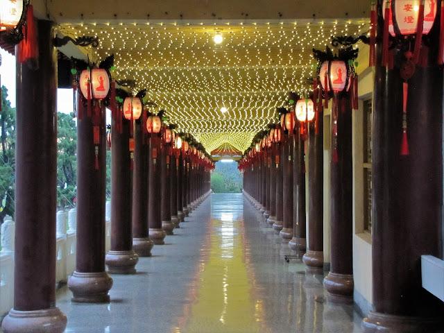 lit pathway fo guang shan kaohsiung taiwan