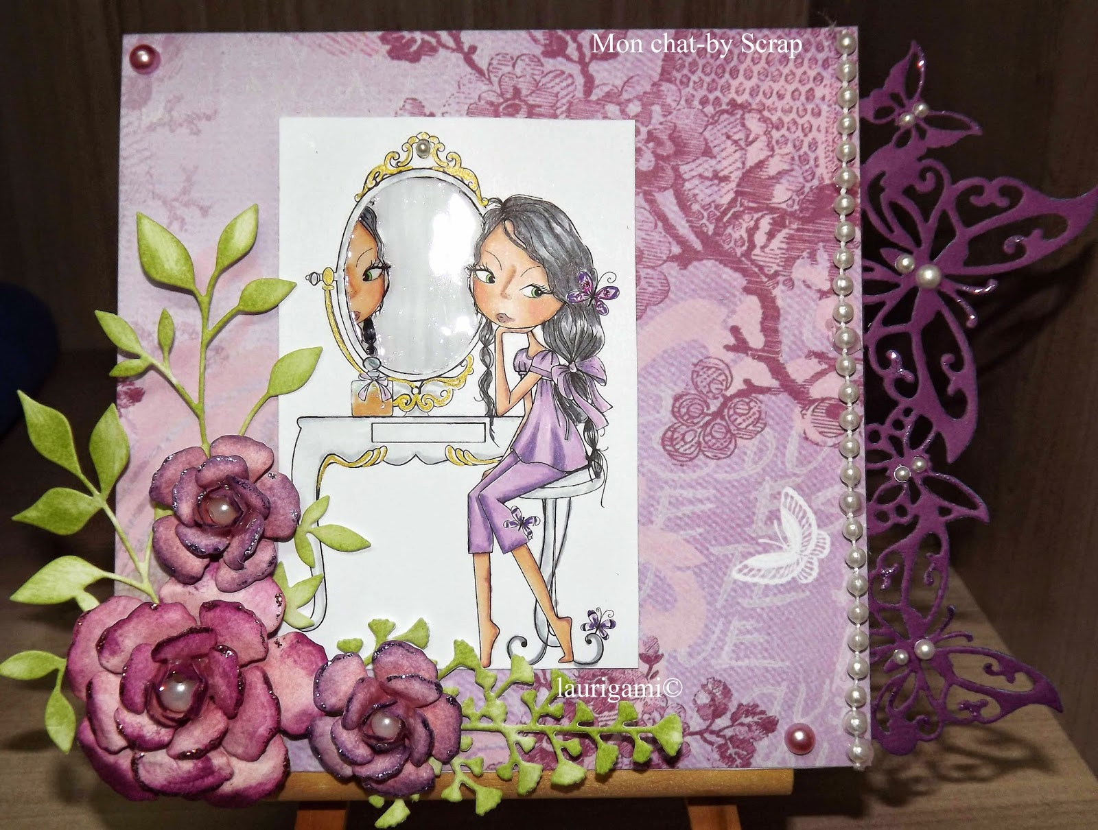 Mon chat by scrap carte dt hobbycutz for Miroir reflet sens 50