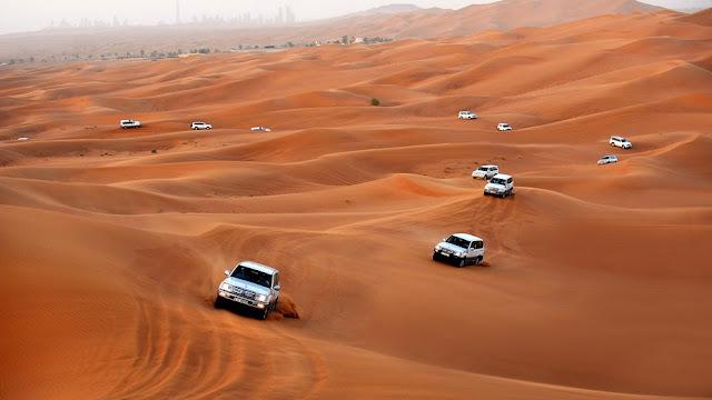 Excursió amb 4x4 per les dunes del desert de Dubai!