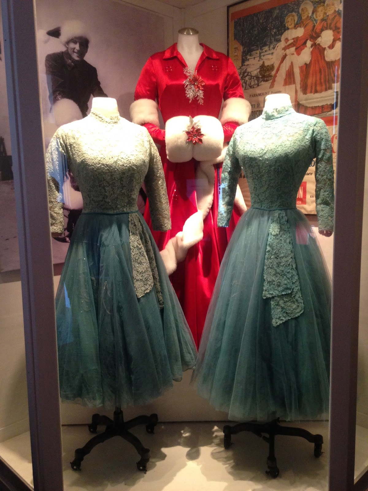 the white christmas dress in the back is a re creation and the sisters dresses have experienced their own long history ask the museum staff - White Christmas Sisters