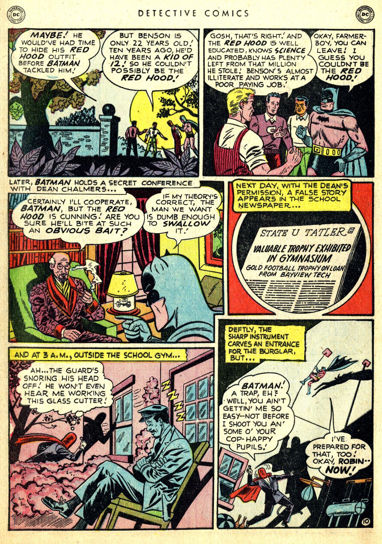 Read online Detective Comics (1937) comic -  Issue #168 - 12