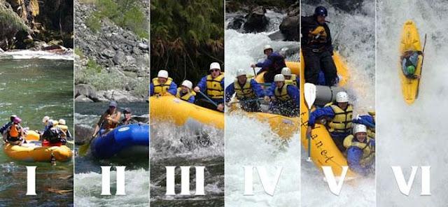Tingkat Kesulitan Sungai Rafting dari Grade I sampai VI