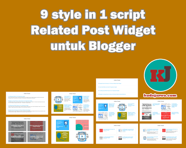 Membuat Related Post Widget 9 Style in 1 Script untuk Blog