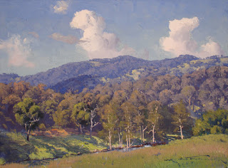 Warwick Fuller painting - Spring on the Peel River