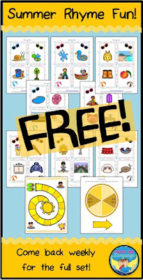 FREE summer rhyming printables from Looks Like Language!
