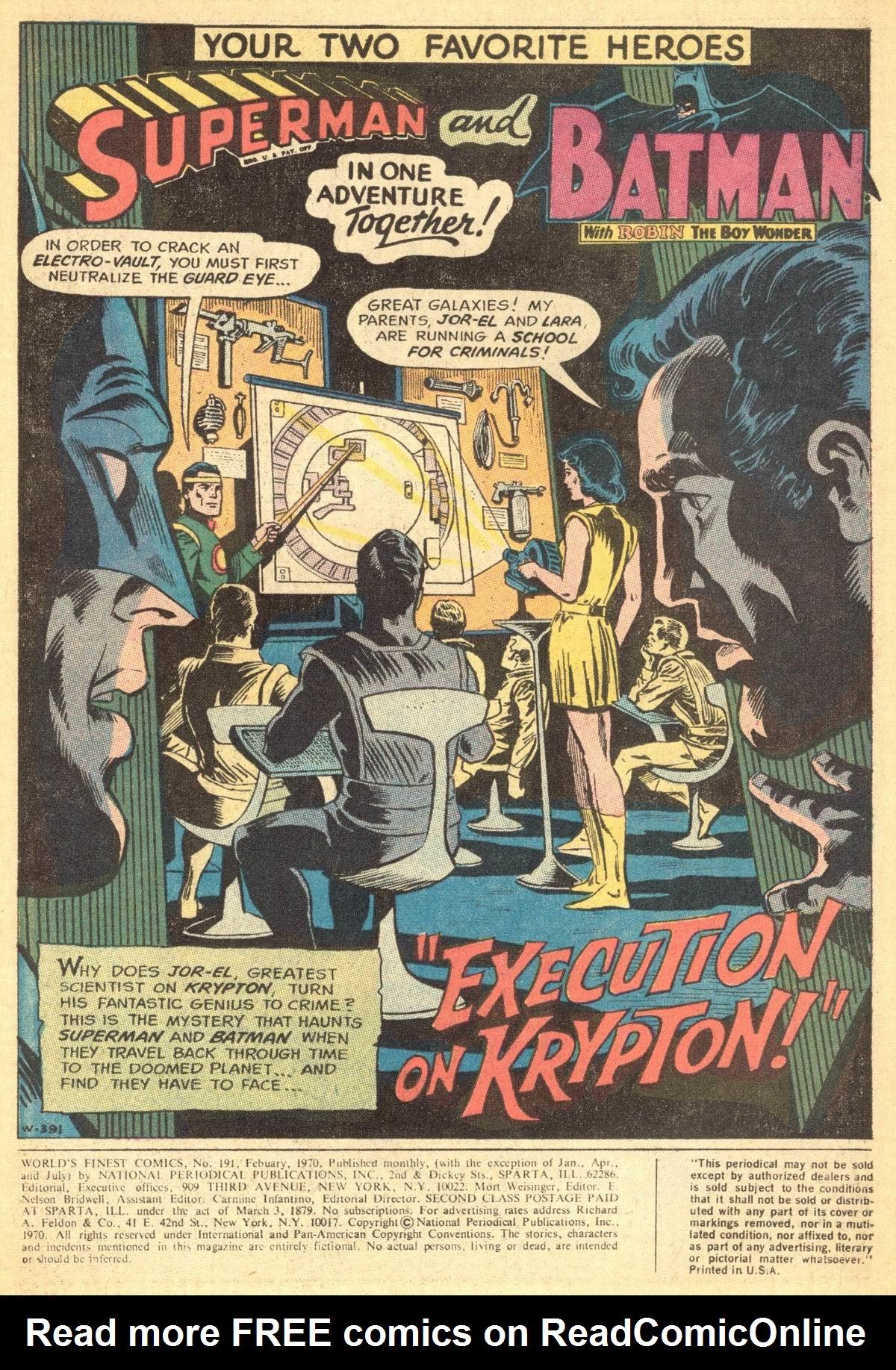 Read online World's Finest Comics comic -  Issue #191 - 3