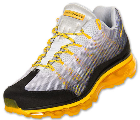 timeless design aa4fa 3ef4e nike-air-max-95-dynamic-flywire-laf-white-wolf-grey-tour-yellow-black-553641-007-2013-livestrong-wear-yellow-lance-armstrong-foundation-cancer-awareness-  ...