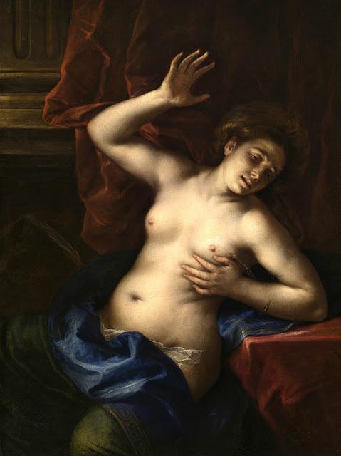 Francesco Cairo - la morte di Cleopatra - nudo pittorico femminile