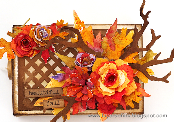 Layers of ink - Autumn Matchbox Tutorial by Anna-Karin