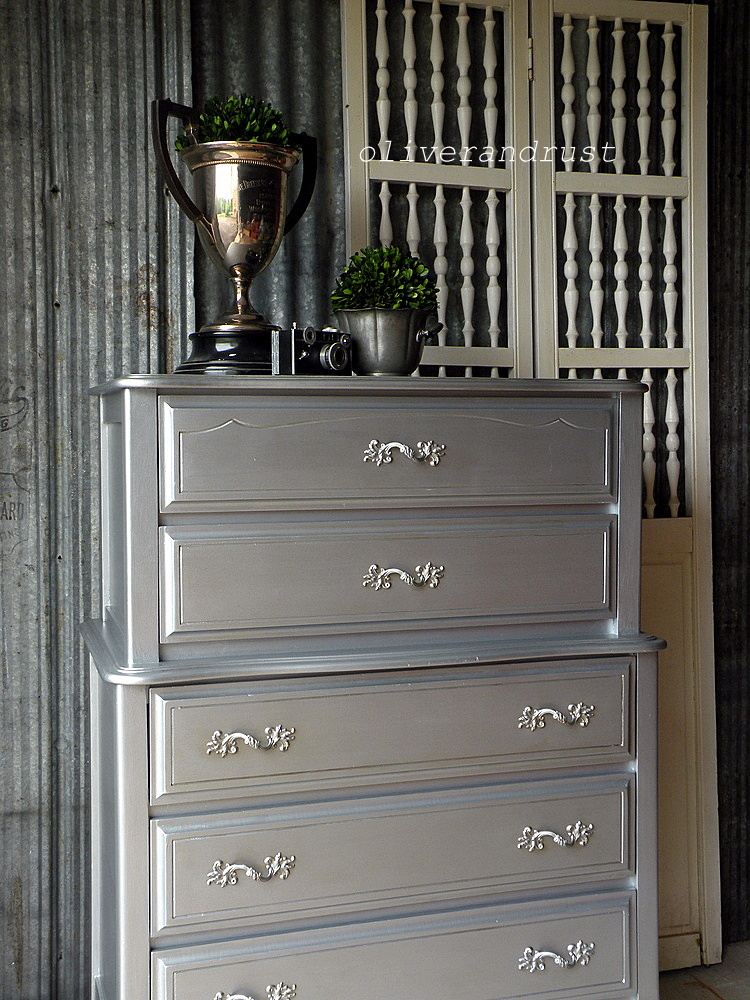Oliver And Rust A Dresser Dressed In Silver