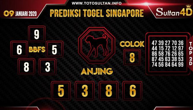 PREDIKSI TOGEL SINGAPORE SULTAN4D 09 JANUARI 2020