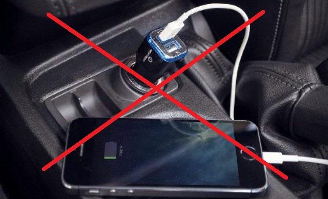 stop cahrging your phone in teh car