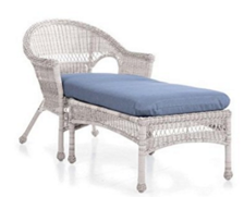 Easy Care Resin Wicker Chaise, in White