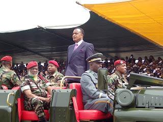 Sassou Nguesso à Djambala