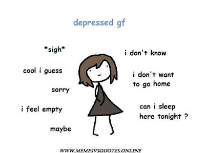 Depressed girlfriend