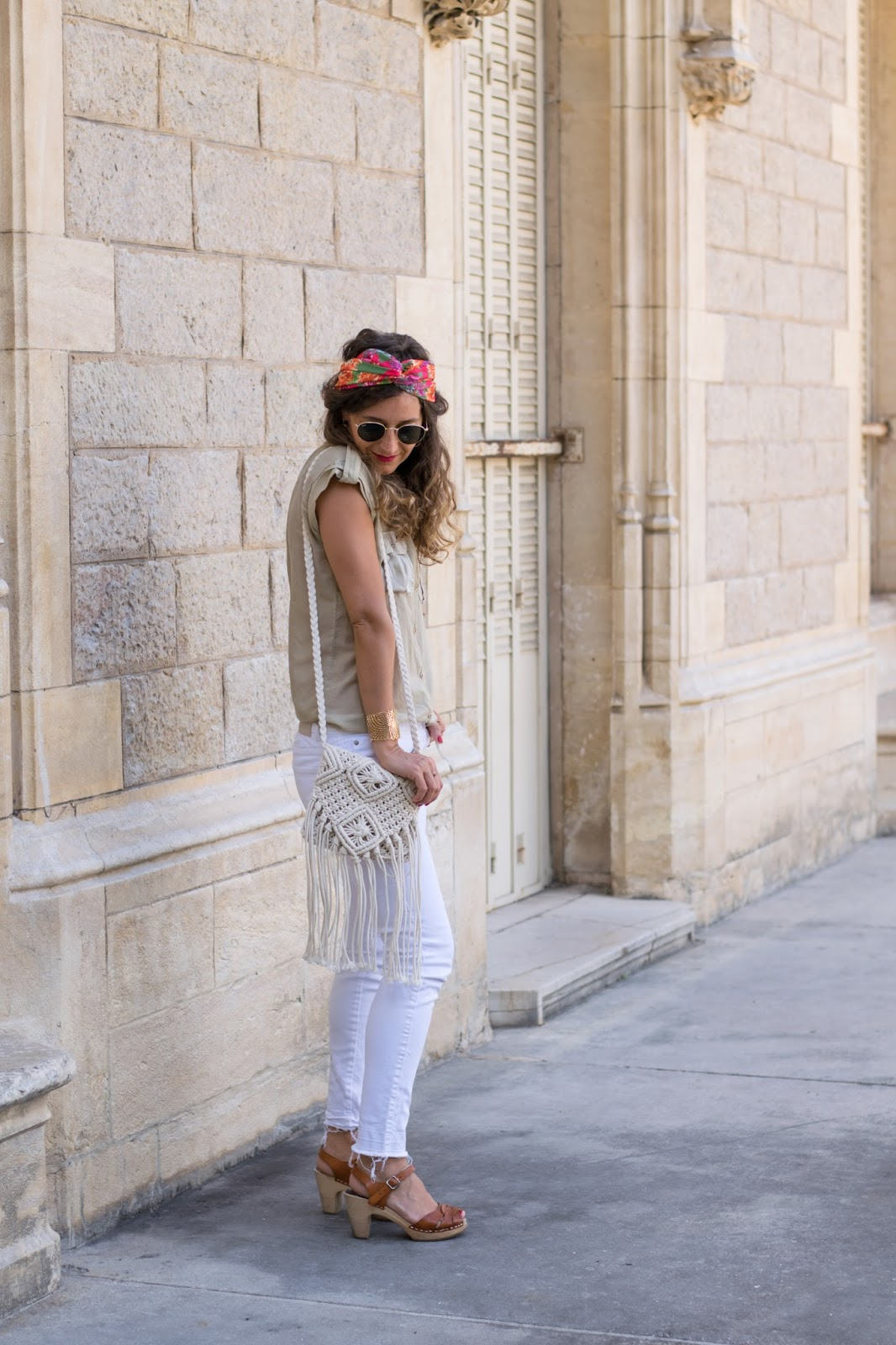 Look blanc et beige