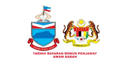 Tarikh Bayaran Bonus Penjawat Awam Sabah 2019