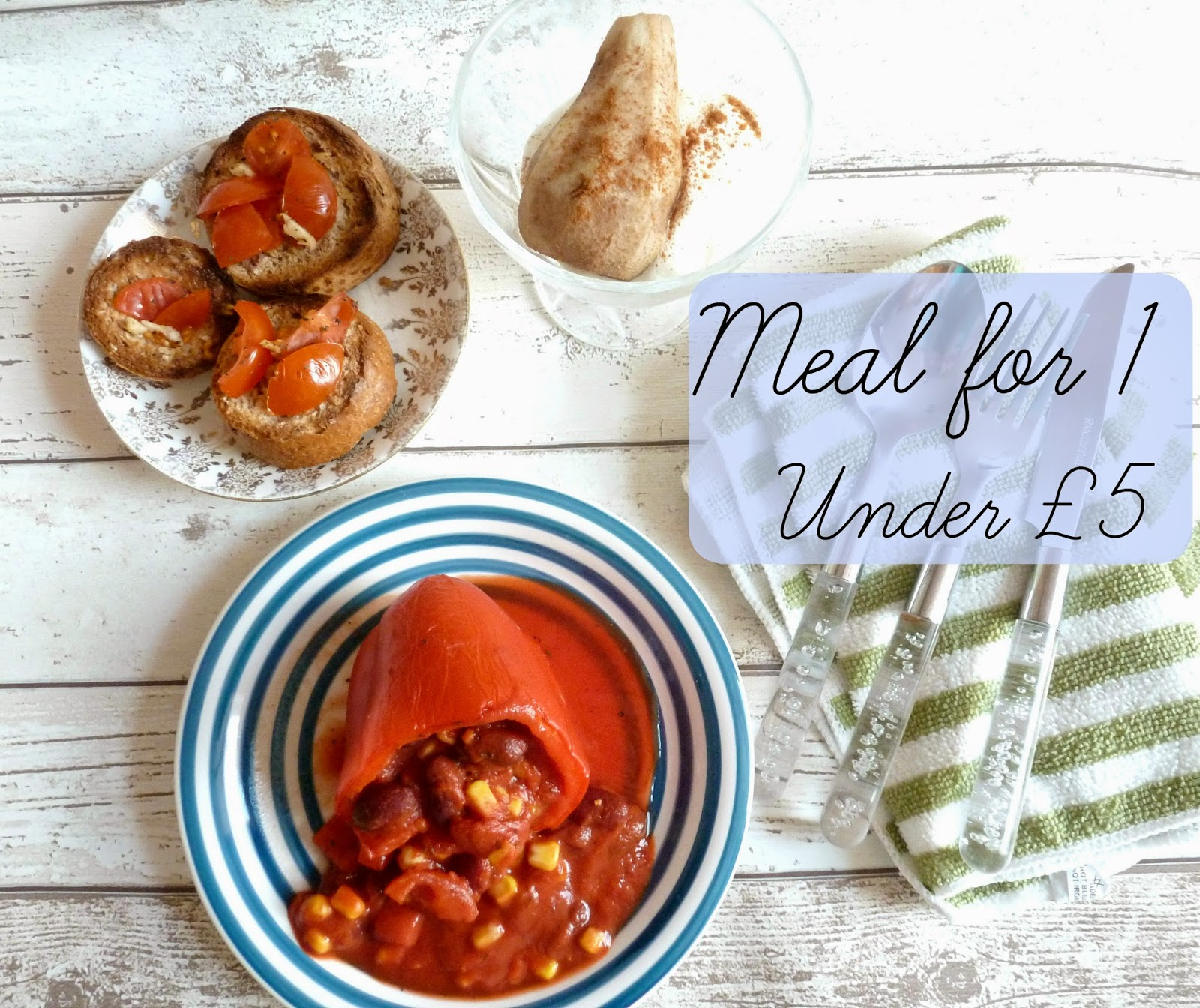 blog post opening image - 3 course meal for 1 under £5