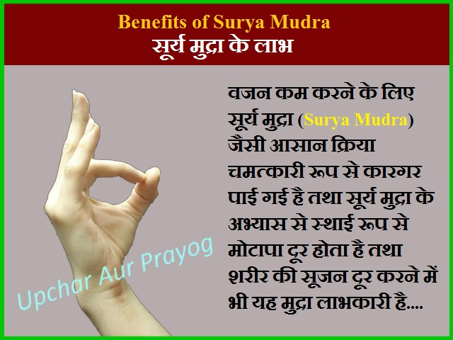 Benefits of Surya Mudra
