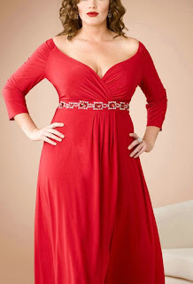 Plus size dress with long sleeves and cutouts