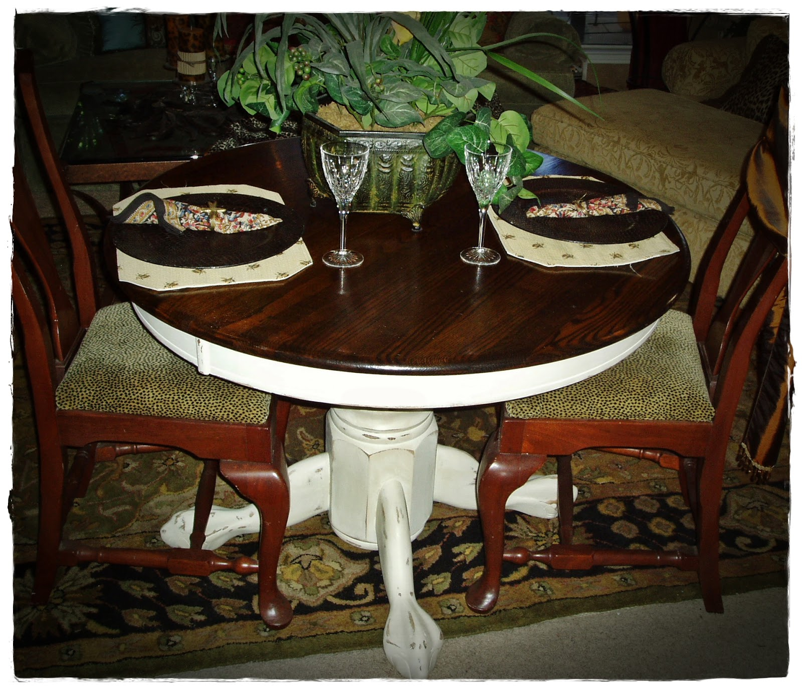 french country round pedestal kitchen white distressed kitchen table French Country Round Pedestal Kitchen Table