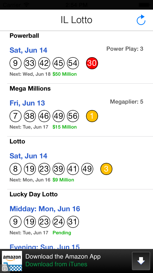 Lottery App Support: iOS IL Lotto Results Support
