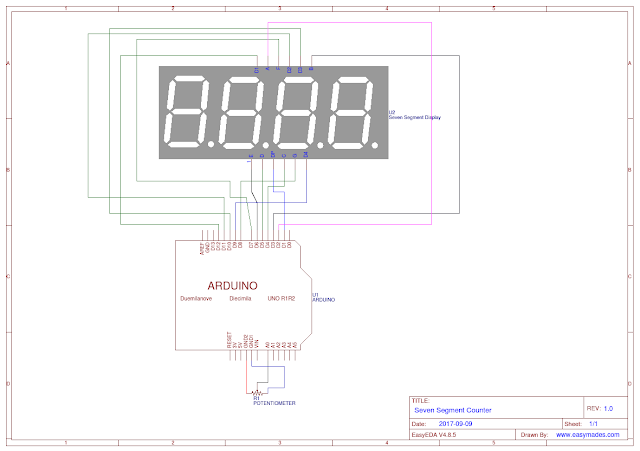 easy mades  arduino seven segments counter  3 in one