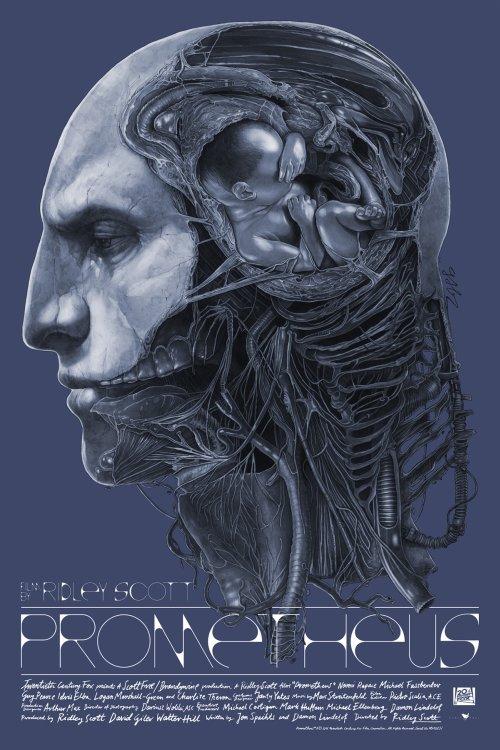 Grzegorz Domaradzki ilustrações cartazes pôsteres filmes arte cinema Prometheus